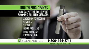 Allen & Nolte, PLLC TV Spot, 'Vaping Devices' - Thumbnail 2