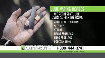 Allen & Nolte, PLLC TV Spot, 'Vaping Devices' - Thumbnail 3