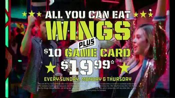 Dave and Buster's TV Spot, 'All You Can Eat Wings Plus a $10 Game Card for Just $19.99' - Thumbnail 2