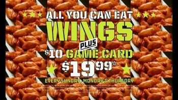 Dave and Buster's TV Spot, 'All You Can Eat Wings Plus a $10 Game Card for Just $19.99' - Thumbnail 4