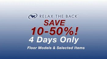 Relax the Back Clearance Sale TV Spot, 'Zero Gravity Recliners, Massage Chairs and Custom Pillows' - Thumbnail 4