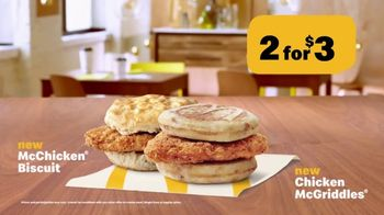 McDonald's 2 for $3 TV Spot, 'Chicken McGriddle and Chicken Biscuit' - Thumbnail 7