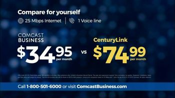 Comcast Business TV Spot, 'Competitor Comparison: $34.95' - Thumbnail 6