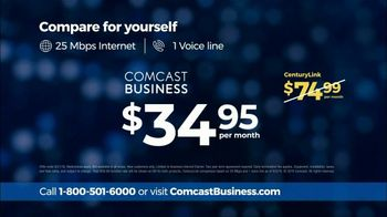 Comcast Business TV Spot, 'Competitor Comparison: $34.95' - Thumbnail 7