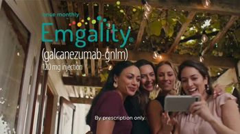 Emgality TV Spot, 'Dinner Party'