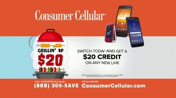 Consumer Cellular TV Spot, 'Better Value: Pizza: Grillin' Up $20 Credit: Plans $20+ a Month' - Thumbnail 9