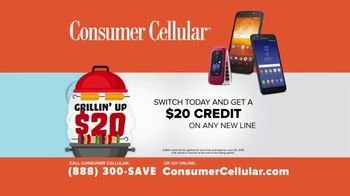 Consumer Cellular TV Spot, 'Better Value: Pizza: Grillin' Up $20 Credit: Plans $20+ a Month' - Thumbnail 8