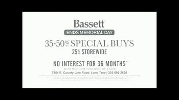Bassett Memorial Day Sale TV Spot, 'The Weekend You've Been Waiting For' - Thumbnail 8