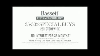 Bassett Memorial Day Sale TV Spot, 'The Weekend You've Been Waiting For' - Thumbnail 7