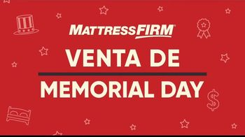 Mattress Firm Venta de Memorial Day TV Spot, 'King a precio Queen: base ajustable' [Spanish] - Thumbnail 1