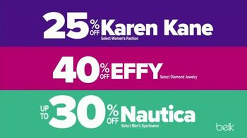 Belk Friends & Family Sale TV Spot, 'Kick It Up: Karen Kane, Effy & Nautica Savings' - Thumbnail 4
