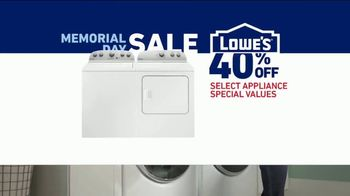 Lowe's Memorial Day Sale TV Spot, 'Whirlpool Laundry Pair' - Thumbnail 8