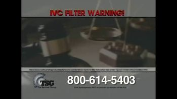 The Sentinel Group TV Spot, 'IVC Filter Warning: Don't Fight Alone' - Thumbnail 4