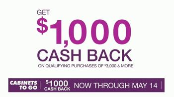 Cabinets To Go TV Spot, 'Curated Selection: $1,000 Cash Back' - Thumbnail 6