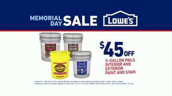 Lowe's Memorial Day Sale TV Spot, 'Do It Right: Interior and Exterior Paints & Stains' - Thumbnail 7