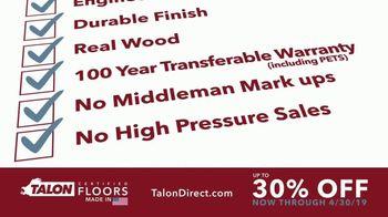 Talon Hardwood Flooring TV Spot, 'Beauty and Value: 30 Percent Off' - Thumbnail 7