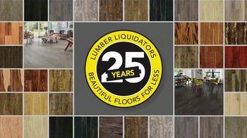 Lumber Liquidators 25th Anniversary TV Spot, 'Celebrate 25 Years: Waterproof Flooring' - Thumbnail 1