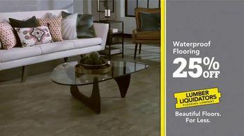 Lumber Liquidators 25th Anniversary TV Spot, 'Celebrate 25 Years: Waterproof Flooring' - Thumbnail 4