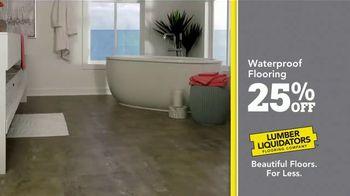 Lumber Liquidators 25th Anniversary TV Spot, 'Celebrate 25 Years: Waterproof Flooring' - Thumbnail 5
