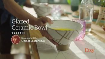 Etsy TV Spot, 'New Favorites: Bowl, Backpack, Welcome Mat' - Thumbnail 2
