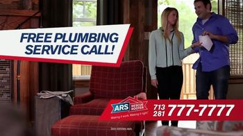 ARS Rescue Rooter $69 Drain Cleaning TV Spot, 'Free Plumbing Service Call'