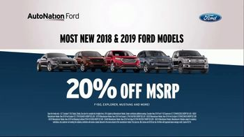 AutoNation 72 Hour Flash Sale TV Spot, 'Labor Day: 2018 and 2019 Ford Models' - Thumbnail 5