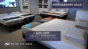 Relax the Back Anniversary Sale TV Spot, 'Up to 40 Percent' - Thumbnail 2