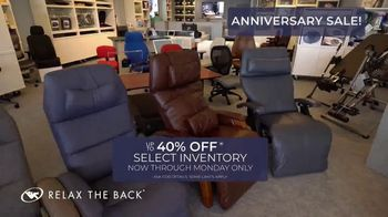 Relax the Back Anniversary Sale TV Spot, 'Up to 40 Percent' - Thumbnail 3