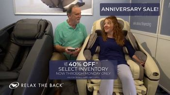 Relax the Back Anniversary Sale TV Spot, 'Up to 40 Percent' - Thumbnail 4
