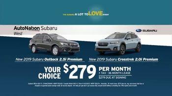 AutoNation 72 Hour Flash Sale TV Spot, '2019 Labor Day: 2019 Subaru Outback & Crosstrek' - 1 commercial airings