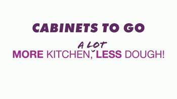 Cabinets To Go End of Summer Sale TV Spot, 'More Kitchen, Less Dough: Free Wall Cabinets' - Thumbnail 1