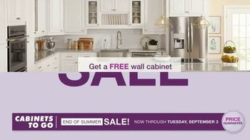 Cabinets To Go End of Summer Sale TV Spot, 'More Kitchen, Less Dough: Free Wall Cabinets'
