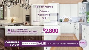 Cabinets To Go End of Summer Sale TV Spot, 'More Kitchen, Less Dough: Free Wall Cabinets' - Thumbnail 2