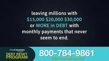 CreditAnswers Debt Reset Program TV Spot, 'The Secret'