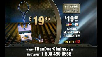 Titan Door Chain TV Spot, 'Maximum Security for Your Front Door: $19.95' - Thumbnail 7