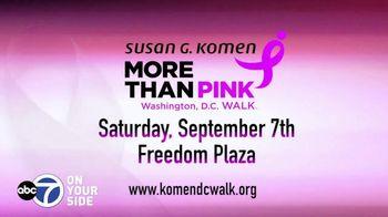 Susan G. Komen for the Cure TV Spot, 'ABC 7 DC: More Than Pink Walk' - Thumbnail 7