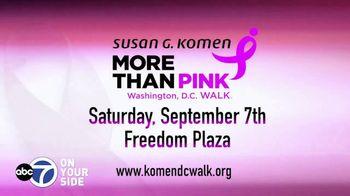 Susan G. Komen for the Cure TV Spot, 'ABC 7 DC: More Than Pink Walk' - Thumbnail 8