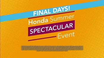 Honda Summer Spectacular Event TV Spot, 'Get Ready for Clearance' [T2] - Thumbnail 6