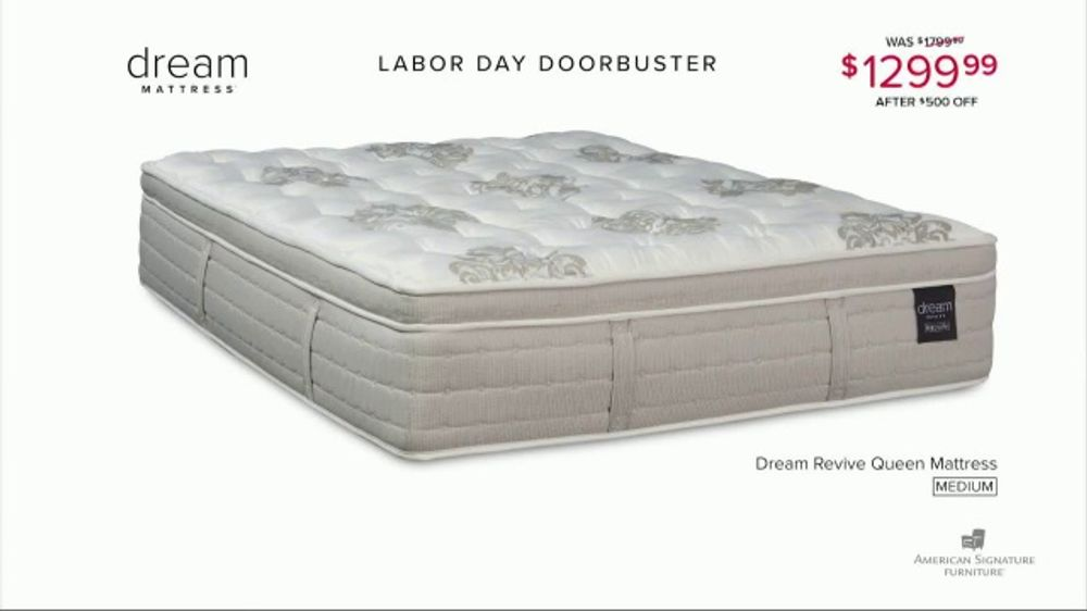 American Signature Furniture Labor Day Doorbusters TV Commercial, 'Queen Mattress'