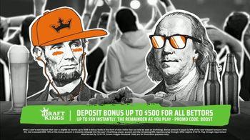 DraftKings Sportsbook TV Spot, 'Keep It 100: Deposit Bonus Up to $500' - 1 commercial airings
