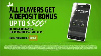 DraftKings Sportsbook TV Spot, 'Keep It 100: Deposit Bonus Up to $500' - Thumbnail 6