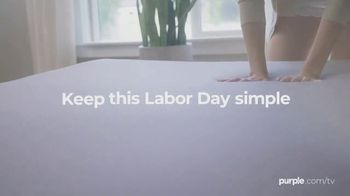 Purple Mattress Labor Day Sale TV Spot, 'Keep This Labor Day Simple: Free Sheets and Two Pillows' - Thumbnail 5