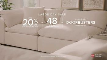 Value City Furniture Labor Day Sale TV Spot, 'Doorbusters: Free Ottoman' - Thumbnail 10