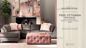 Value City Furniture Labor Day Sale TV Spot, 'Doorbusters: Free Ottoman' - Thumbnail 8