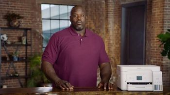 Epson EcoTank TV Spot, \'No More Running Out of Ink\' Featuring Shaquille O\'Neal