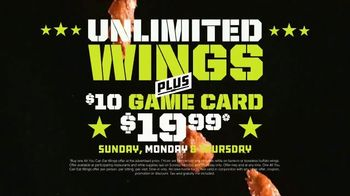 Dave and Buster's Unlimited Wings + $10 Gift Card TV Spot, 'Ready for Football'