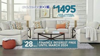 Rooms to Go TV Spot, '2019 Labor Day: Cindy Crawford Home Living Room Set' - 2 commercial airings