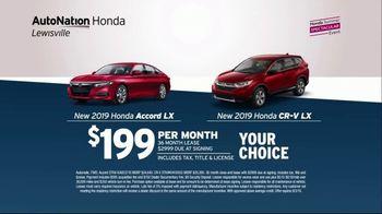 AutoNation 72 Hour Flash Clearance TV Spot, '2019 Honda Accord and CR-V' - Thumbnail 2