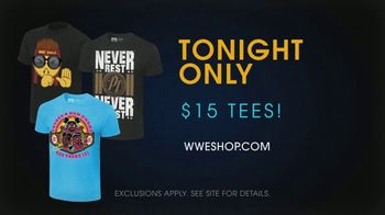 WWE Shop TV Spot, 'Come One, Come All: $15 Tees' Song by SATV Music - 2 commercial airings