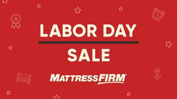 Mattress Firm Labor Day Sale TV Spot, 'King for the Price of a Queen' - Thumbnail 1